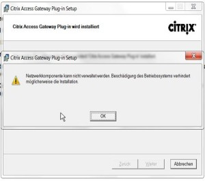 Access Gateway Fehler