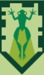Fallender Ochsenfrosch