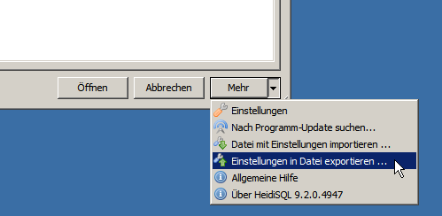 HeidiSQL Settings