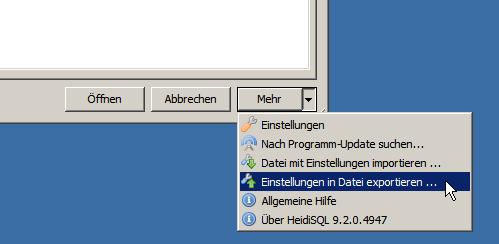 HeidiSQL Settings