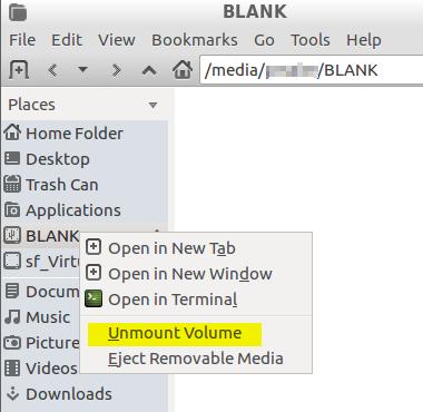 Unmount USB Stick GUI