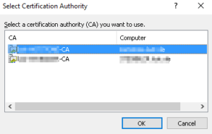 select certification authority